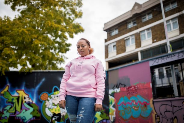 Young women in Brixton Estate
