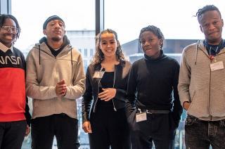 Leap Graduates at a partnership event